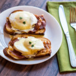 Prosciutto Eggs Benedict on Challah