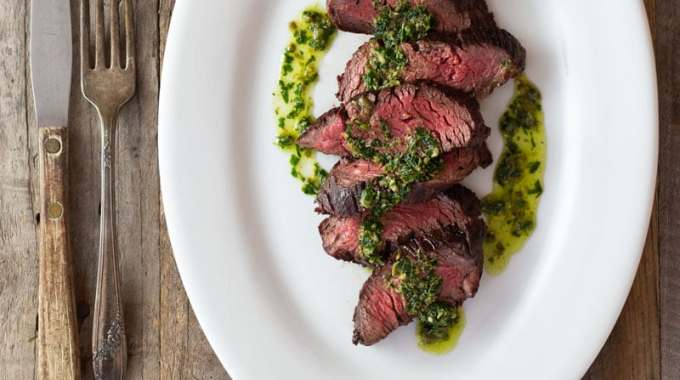 Hanger Steak with Salsa Verde