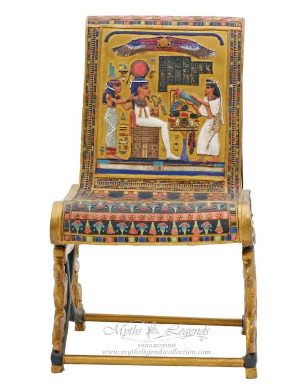 Miniature Egyptian Queen Chair Myths & Legends Collection