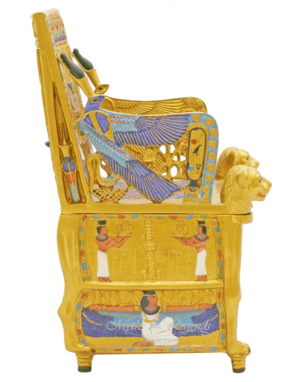 Miniature Egyptian Tutankhamen Throne Jewellery Box