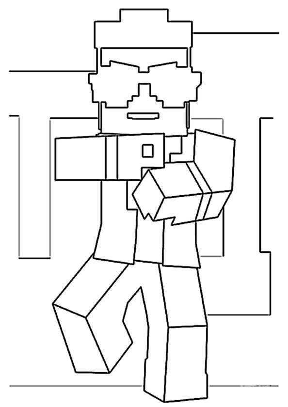 Minecraft Malvorlagen