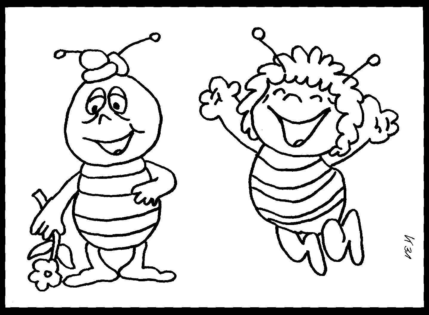 Top 20 Ausmalbilder Biene - Beste Wohnkultur Bastelideen