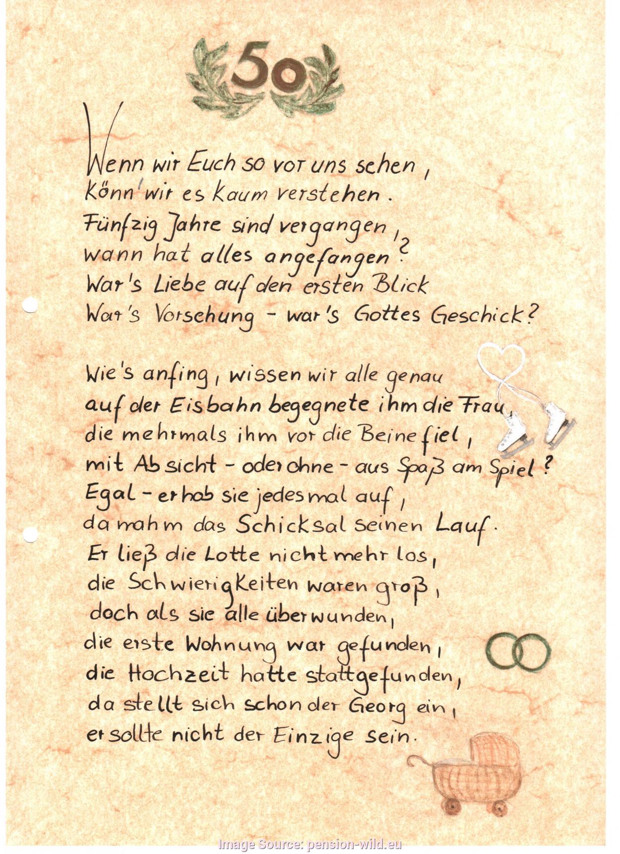 Lustige Gedichte Goldene Hochzeit Eltern 50 Jahre