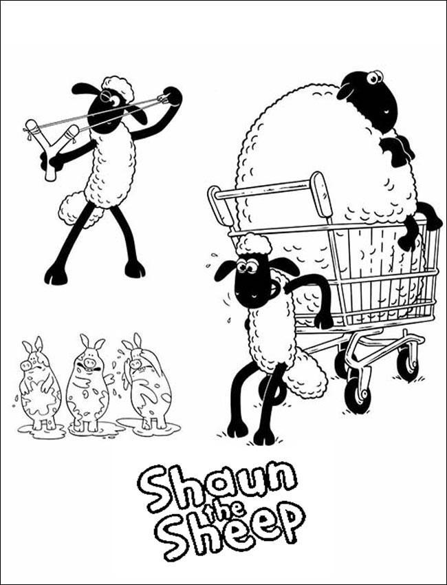 Die Besten Ideen Für Shaun Das Schaf Ausmalbilder - Beste