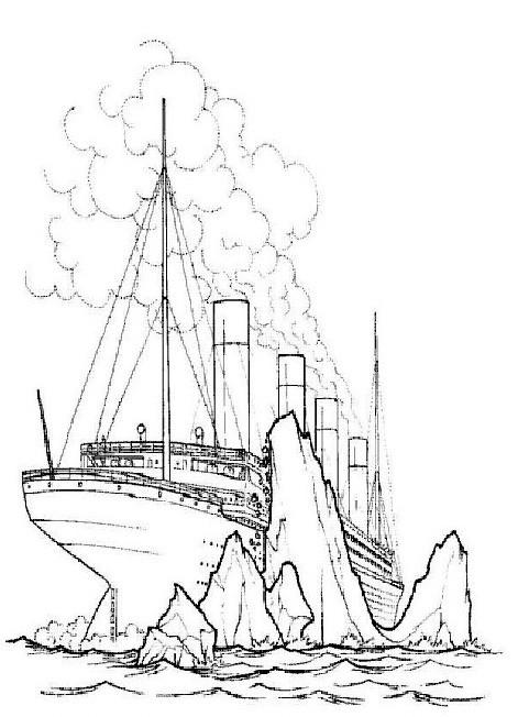 Titanic Malvorlage