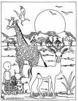 Die Besten Ideen Für Ausmalbilder Tiere Afrika   Beste ...