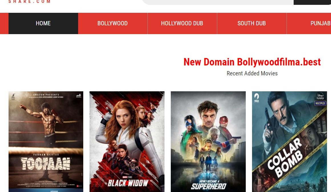 BollyShare 2021 – Free Download HD Latest Movies