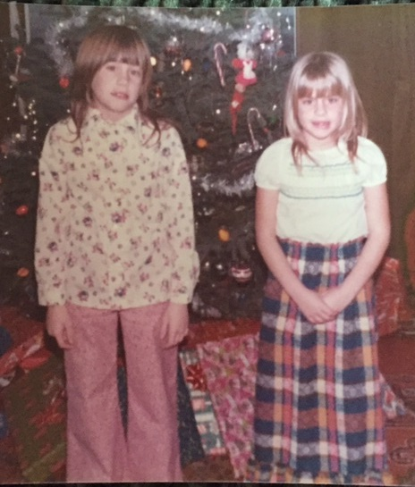 My sister and me. (That's me on the right)