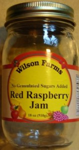 Wilson Farms raspberry jam label