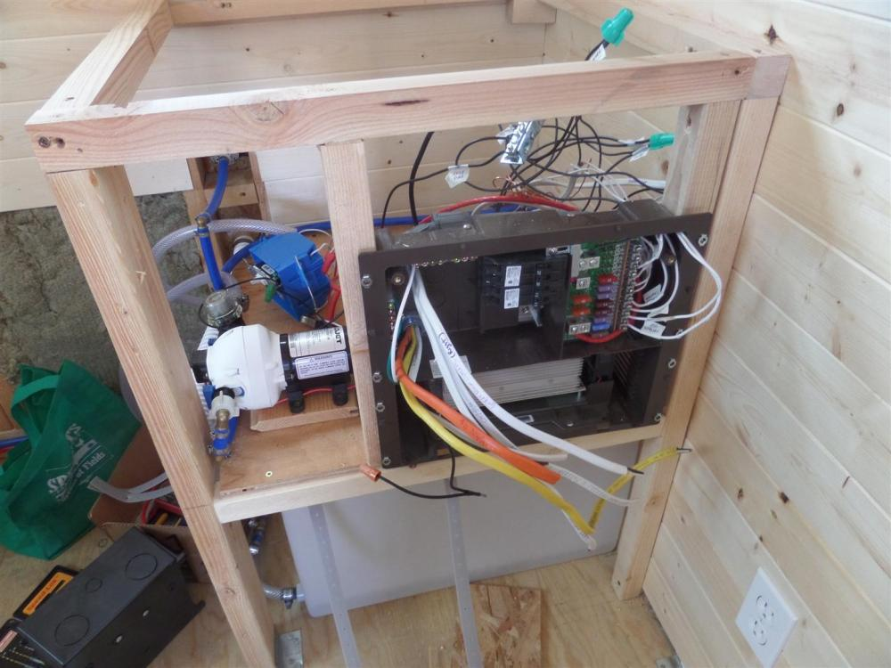 medium resolution of wires run into fuse box 110 v on left 12 v on right
