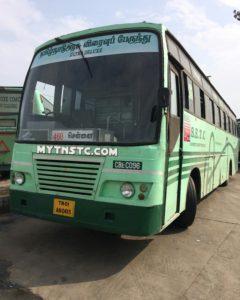 Coimbatore To Chennai Non AC Coach TN 01 AN0415 SETC