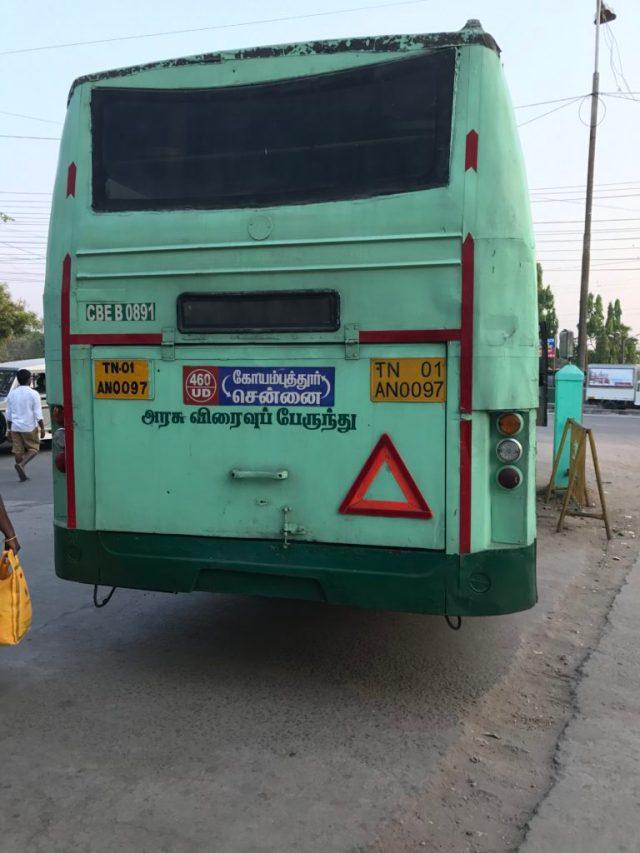 SETC Siruvani Non AC 09 Hours Chennai To Coimbatore