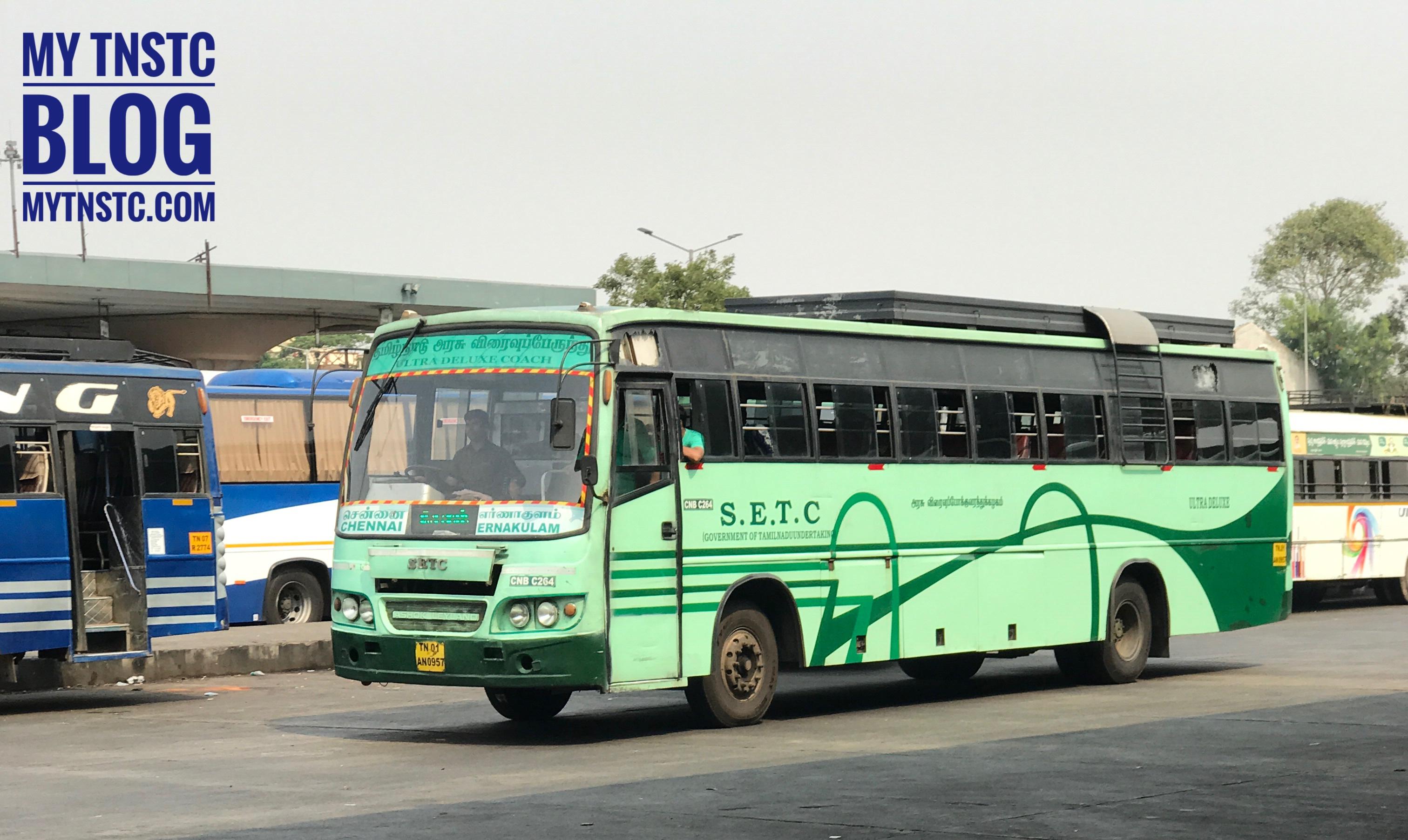 SETC Chennai To Changanassery via Kottayam Bus Service Ticket Timing H768