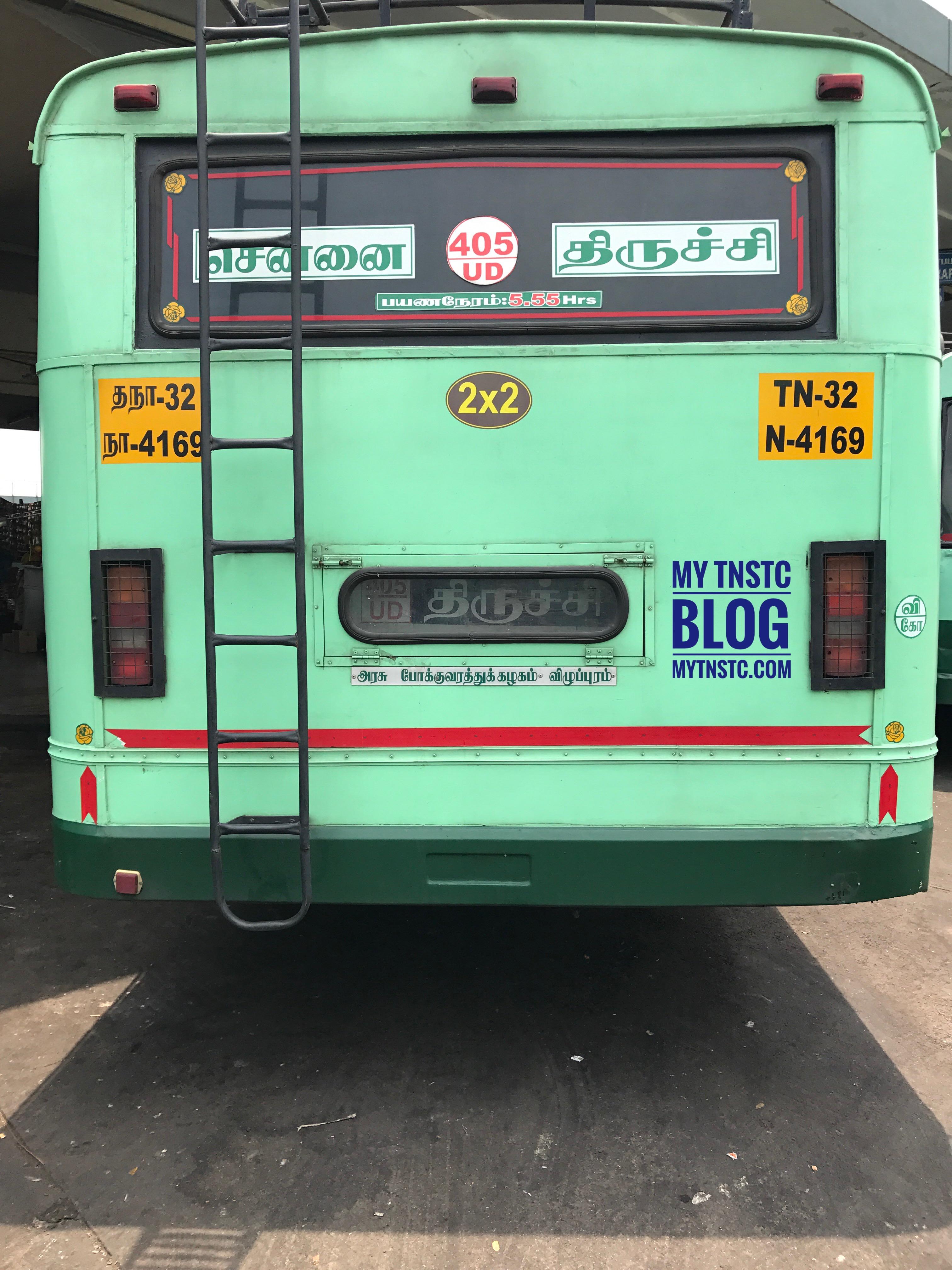Chennai To Trichy TNSTC UD Bus TN 32 N4169
