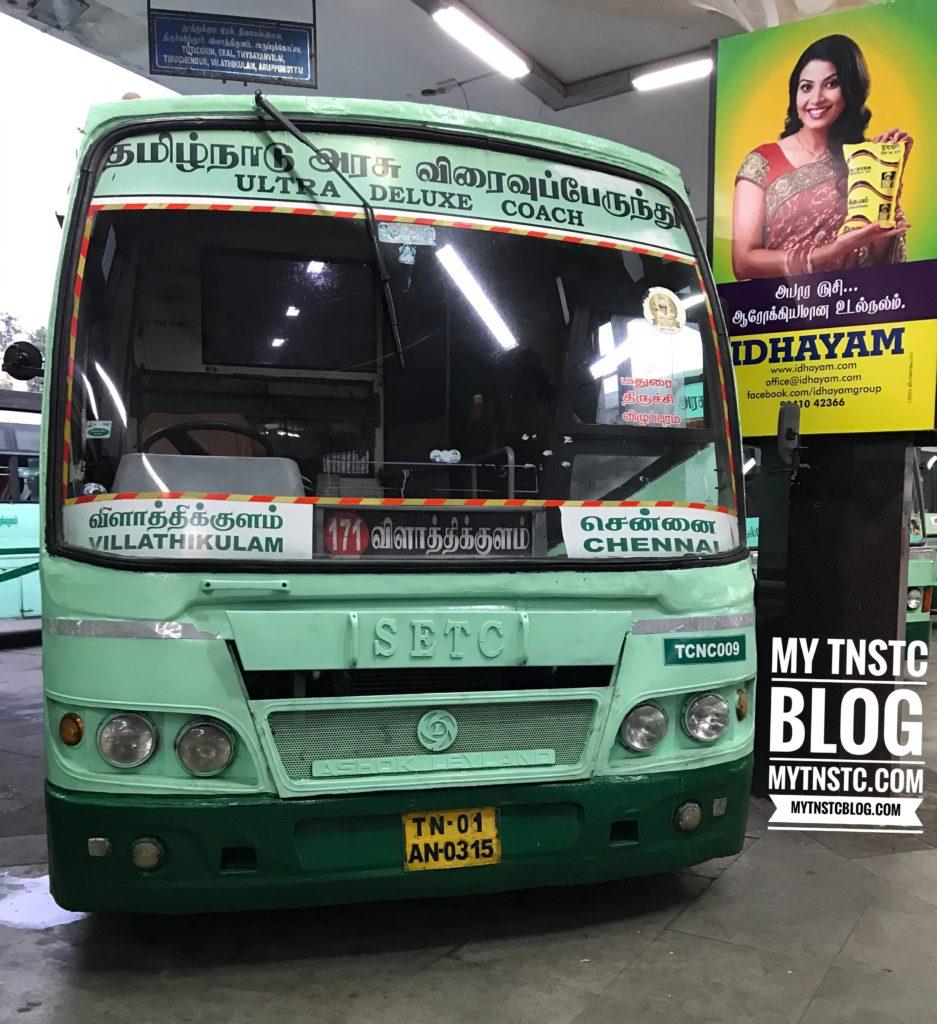 Vilathikulam to Chennai SETC Bus Service via Aruppukottai H171 UD