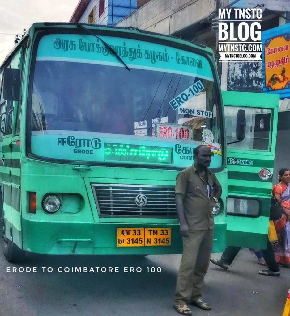Coimbatore - Erode TNSTC Bus Timings ER0 100