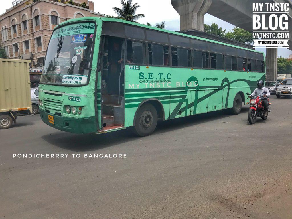 Pondicherry Bangalore SETC Bus Service 622 UD 623 UD