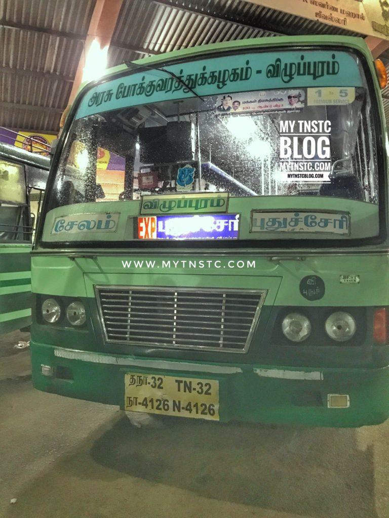 Salem to Pondicherry TNSTC Bus Timings