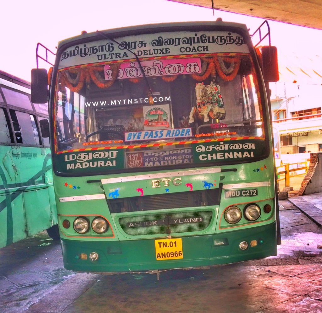 Chennai To Madurai SETC Bus Timings