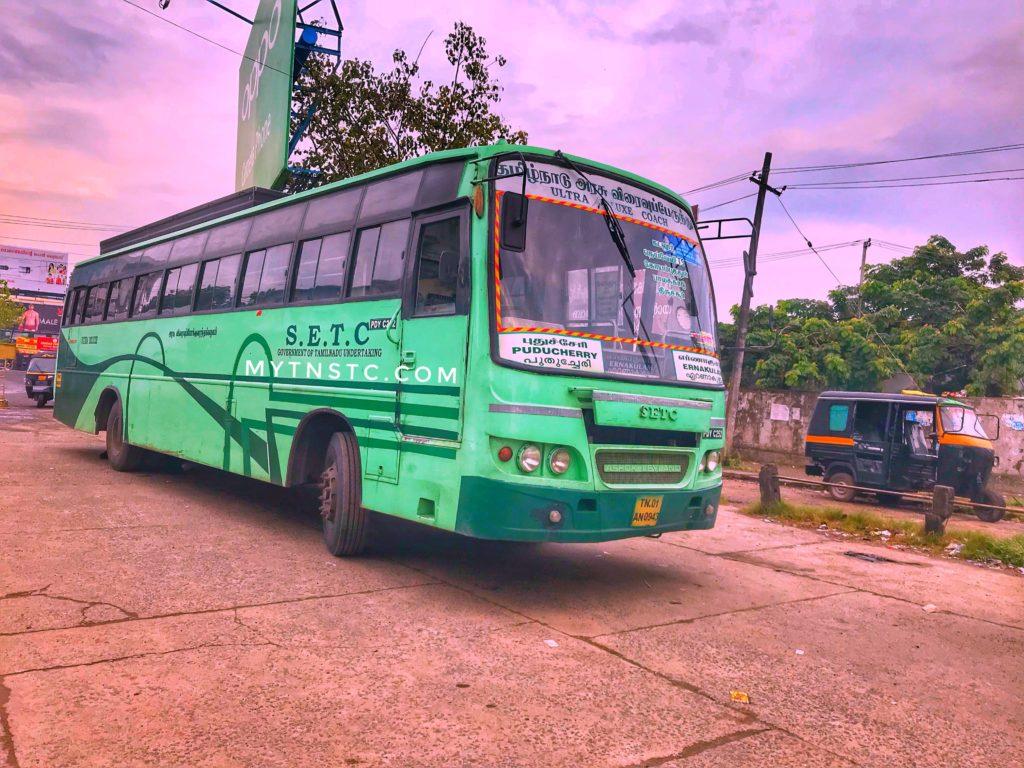 Pondicherry Ernakulam SETC Bus Timings