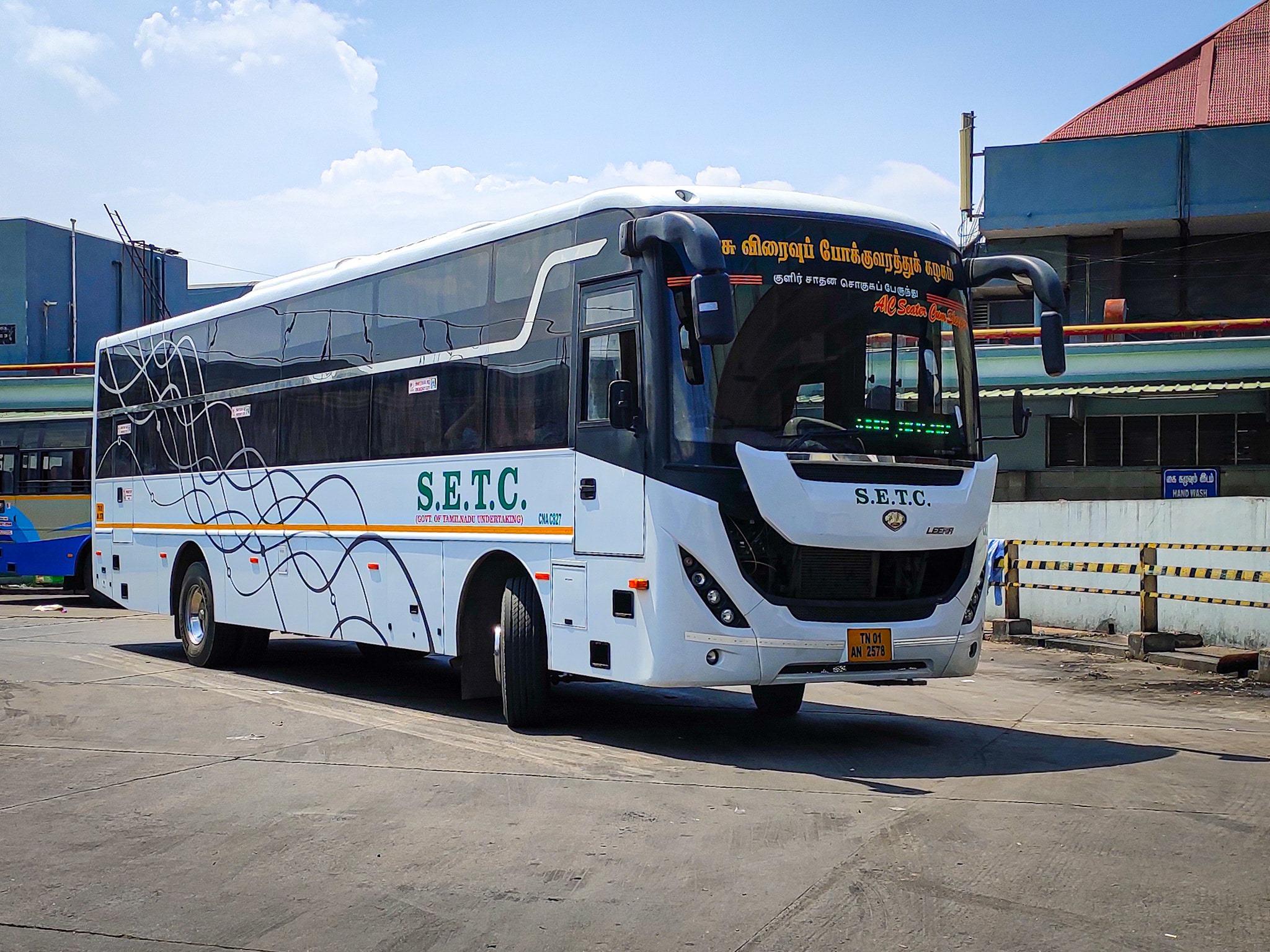 Velankanni To Chennai SETC AC Seater Cum Sleeper Bus Service Timings