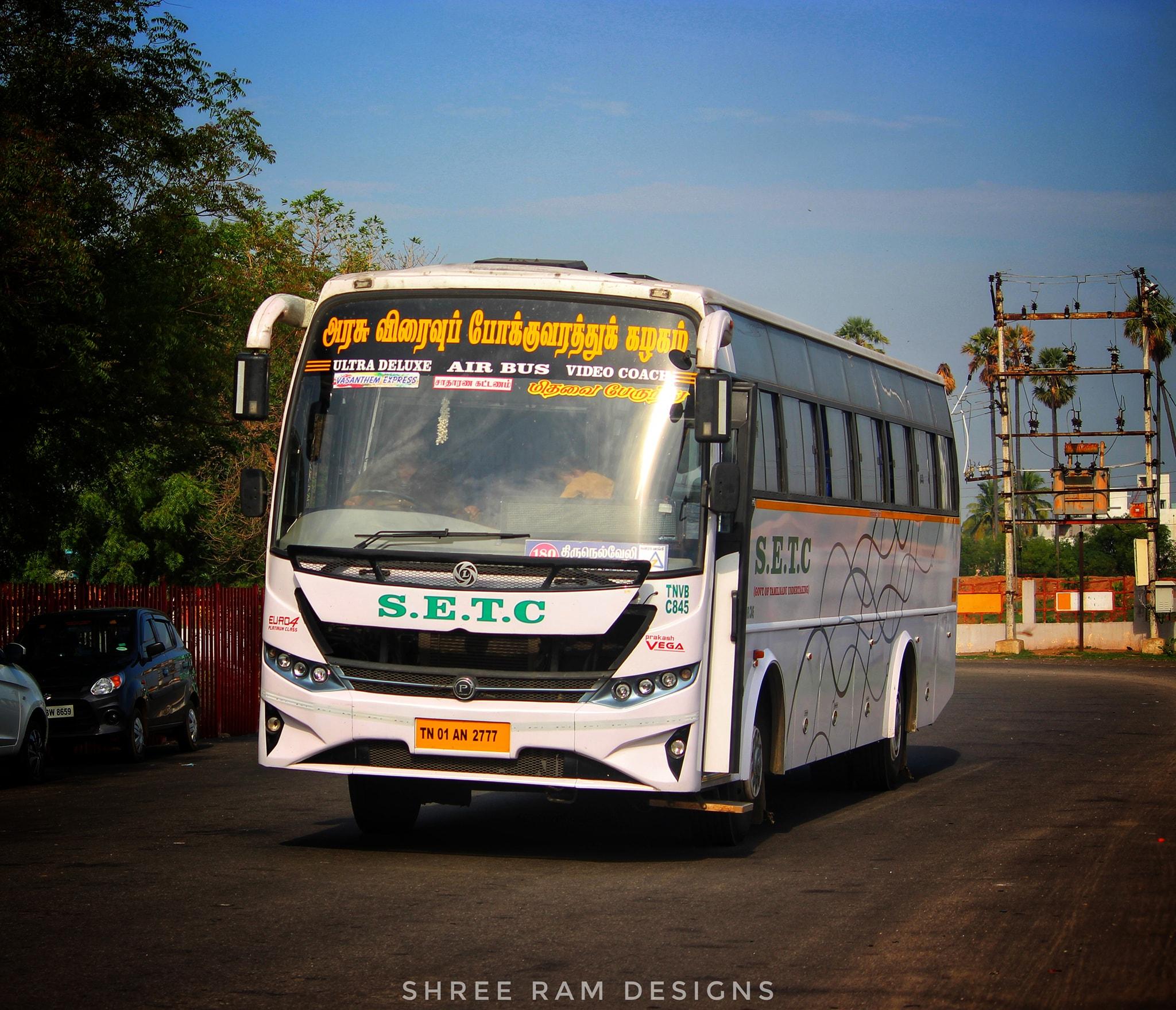 Coimbatore To Tirunelveli SETC Non AC Bus Service Timings