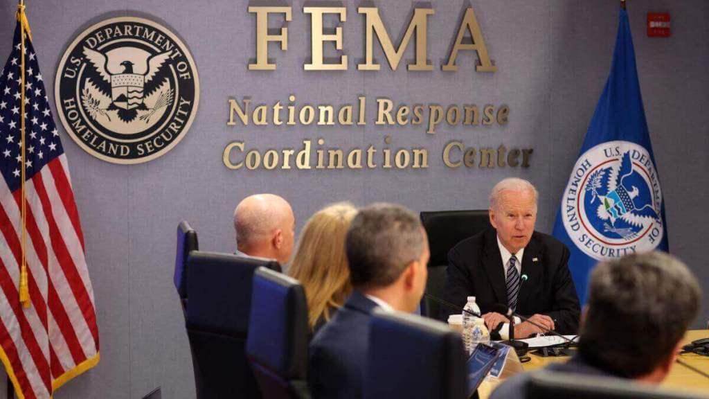 Joe Biden discusses with FEMA on flood disaster