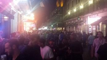 very crowded street