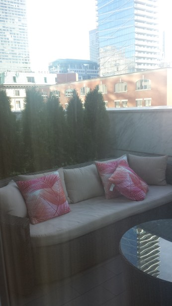 Outdoor patio adjacent to the lounge