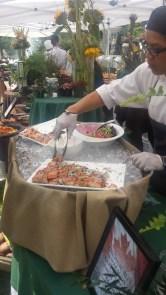 fresh seafood station
