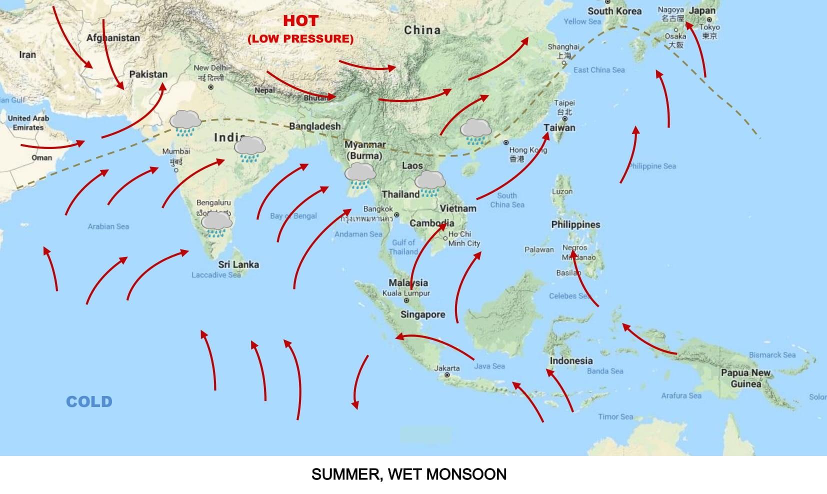 Asian Monsoon - mytouristmaps.com