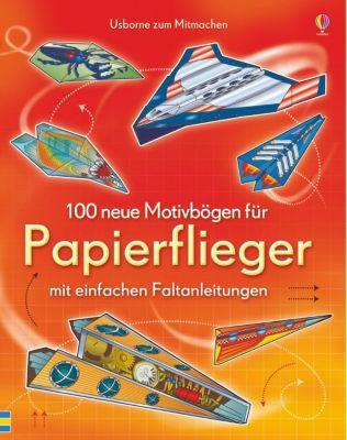 100 neue Motivbögen Papierflieger Kinder