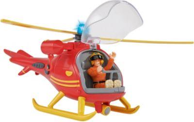 Feuerwehrmann Sam Hubschrauber mit Figur Feuerwehrmann