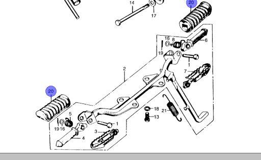 Z50A K3 & K4 (1972-1973) Replacement Footpeg Rubber