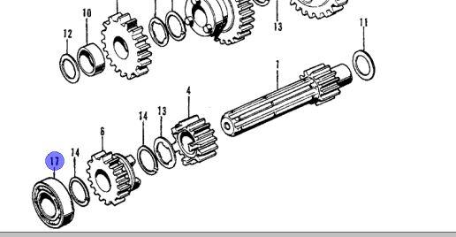 Crankcase bearing/Radial Ball Bearing