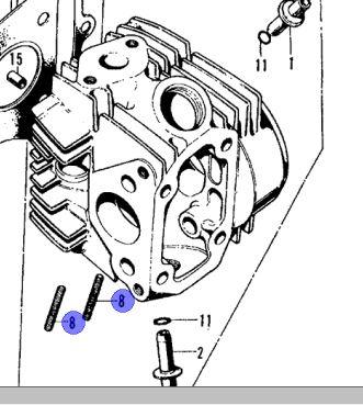 Cylinder Head Stud/Exhaust Screw