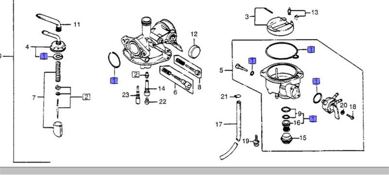 Carb Gasket Set for CT70 1982-1994