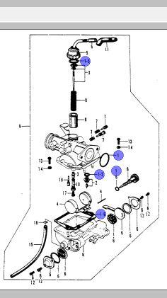 Carb Gasket Kit For CT70H/CT70KO
