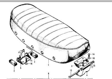 CT70 Seat Bracket/Hinge-Upper Portion