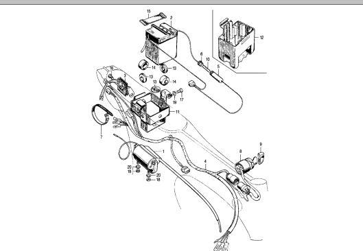 Z50A/ CT70H Battery Band- Honda