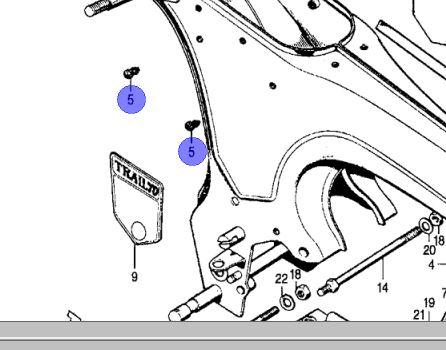 Frame Plug for CT70 1970-1982 and CT90 1972, 1974-79
