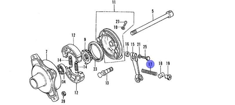 Brake Adjusting Nut- Front and Rear Applications