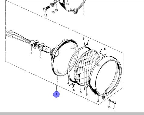Z50 Headlamp Assembly