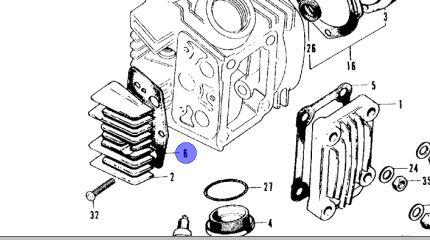 CT90/ST90 Cylinder Head Side Cover Gasket