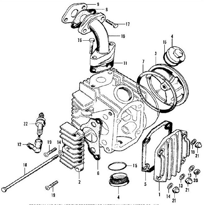 Insoul Gasket-Original Honda OEM 1970-1977