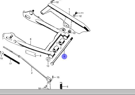 Z50A Swingarm to Frame Pivot Bolt