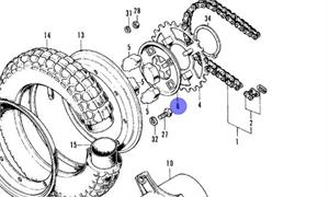 Rear Sprocket/Wheel Dampener Plate