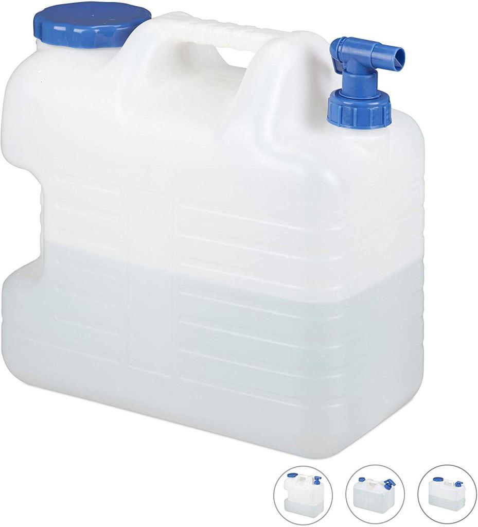 Relaxdays 20 L Outdoor Wasserkanister mit Hahn
