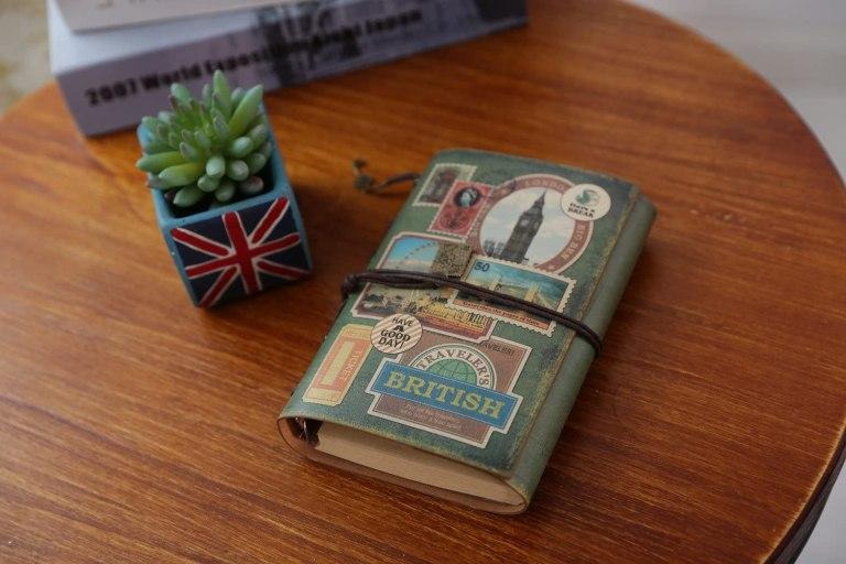 Maleden Tagebuch für Reise mit Vorlage