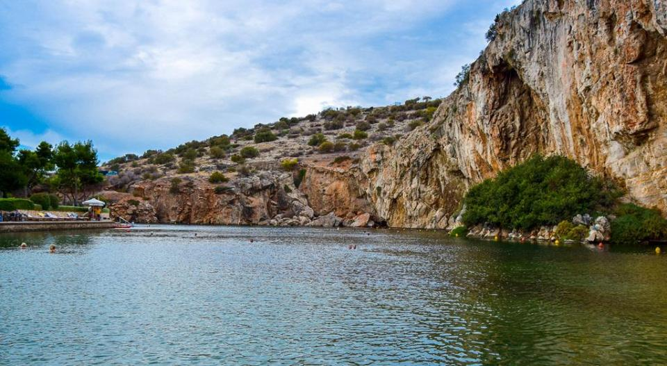 Ateny Jezioro Vouliagmeni